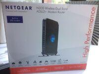 Netgear N300 wireless Dual Band ADSL 2 + modem Router