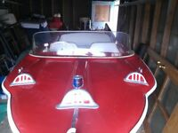 1958 Red Fish Runabout Motor Boat - Excellent Condition
