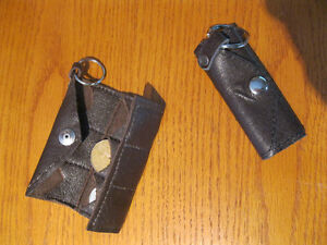 BRAND NEW LEATHER KEY CHAIN AND COIN HOLDER