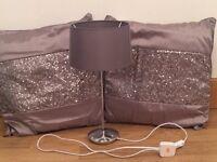 Next Curtains, Rug, Cushions & Lamp