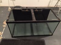 120 gallon aquarium with drilled holes for overflow. 4x2x2ft