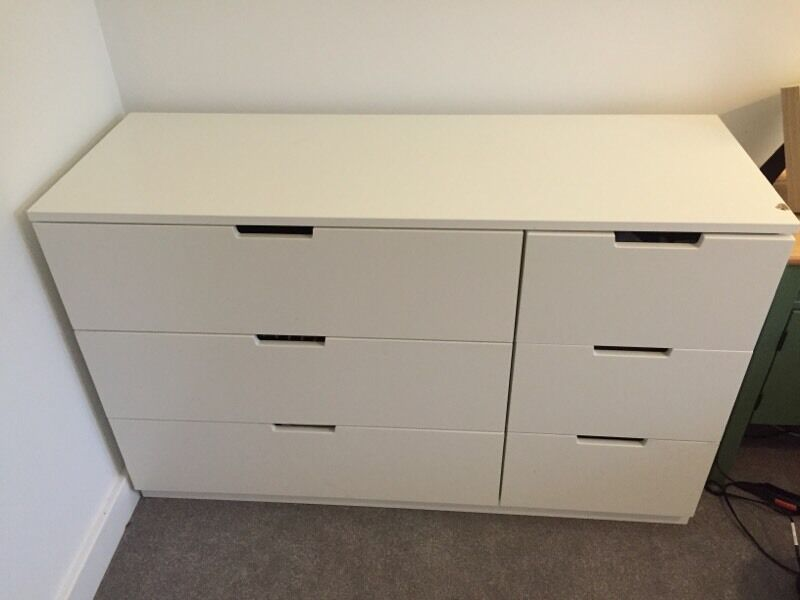 ikea nordli chest of 6 drawers in romsey hampshire. Black Bedroom Furniture Sets. Home Design Ideas