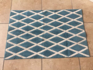 Teal Area rug with Rubber backing - 2.5 feet * 4 feet