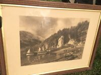 Picture in frame of Lynmouth