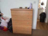 Oak chest drawer