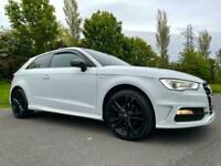Audi A3 2.0TDI 3 DOOR S-LINE 150 BHP *** STUNNING IN CANDY WHITE / HUGE SPEC