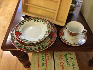 Set de vaisselle de Noël