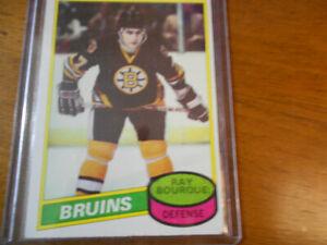 1980 Ray Bourque Boston Bruins Hockey Card