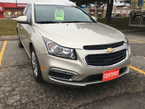 2015 Chevrolet Cruze LT Sedan! Certified! Financing Available!
