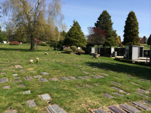 Ocean View Cemetery - 2 ADJACENT Cremation Burial Plots for Sale