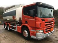 2005 05 Scania P270 6x4 18,800 4 compartment fuel tanker