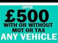 07910034522 SELL YOUR CAR VAN BIKE WANTED FOR CASH BUY MY SCRAP NO Tax
