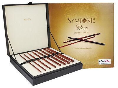 KnitPro Symfonie Rose Wood Häkelnadel-Set  in edler Box 20736