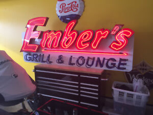 8 ft Neon sign.  One of a kind. PLUS MANY MORE signs