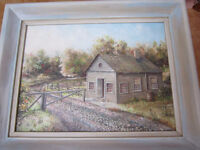 """Frank K.Gustin , """"Toll Gate """" painting , local artist ?"""