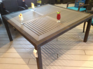 Table de jardin patio LARGE 8 personnes outdoor dining table