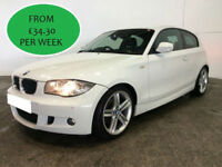 £148.64 PER MONTH 2009 BMW 120 2.0TD M SPORT DIESEL MANUAL 3 DOOR