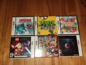 6 jeux DS ET 3DS