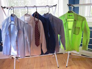 5 Boys Dress Shirts & 1 Tie  Lot - Youth Small  Like New
