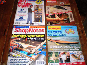 revues de bricolages: Shop notes, table saw, better home and gar