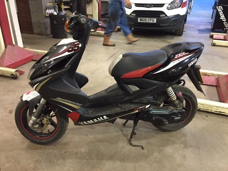 yamaha aerox 50cc moped 2012 scooter in plymouth devon. Black Bedroom Furniture Sets. Home Design Ideas