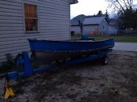 14ft boat and trailer.