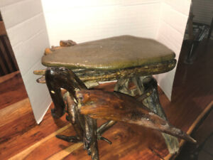Drift wood Funky Hand Made Side Table with top