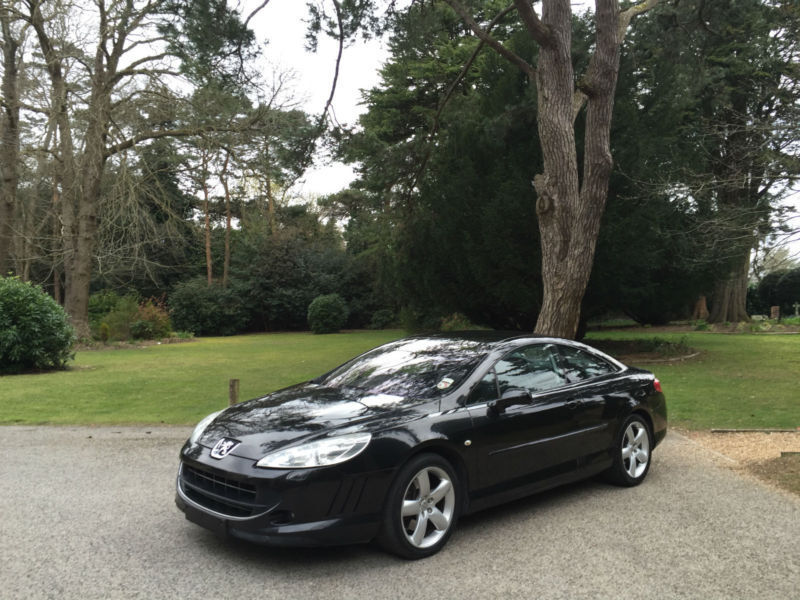 2006 peugeot 407 2 7 hdi v6 205bhp gt auto turbo diesel 2 door coupe black in poole. Black Bedroom Furniture Sets. Home Design Ideas