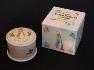 "Wedgwood Collection, Peter Rabbit ""My Firt Hair Cut"" Jar"