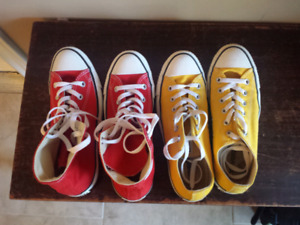 "Gently used Converse ""Chucks"" shoes for Men and Women"