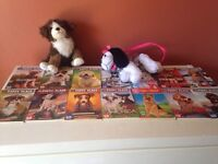 The puppy place books,purse and stuffed animals!!