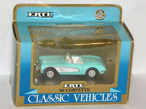 Ertl 1/43 Scale 1960 Chevrolet Corvette Diecast Car Aqua