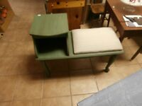 Refinished Vintage Telephone Table at Carson's Flea Market