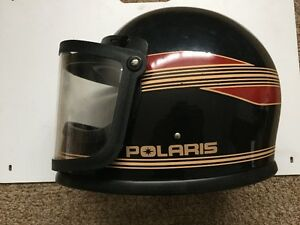 Polaris Indy Snowmobile Helmet w/shield used Gold/Black Medium