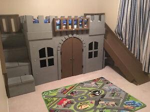 Unique kids castle loft bed