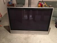 "42"" Panasonic TV + Glass Pivot Stand"