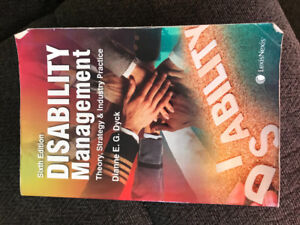 Disability Management 6th edition for Dalhousie Courses