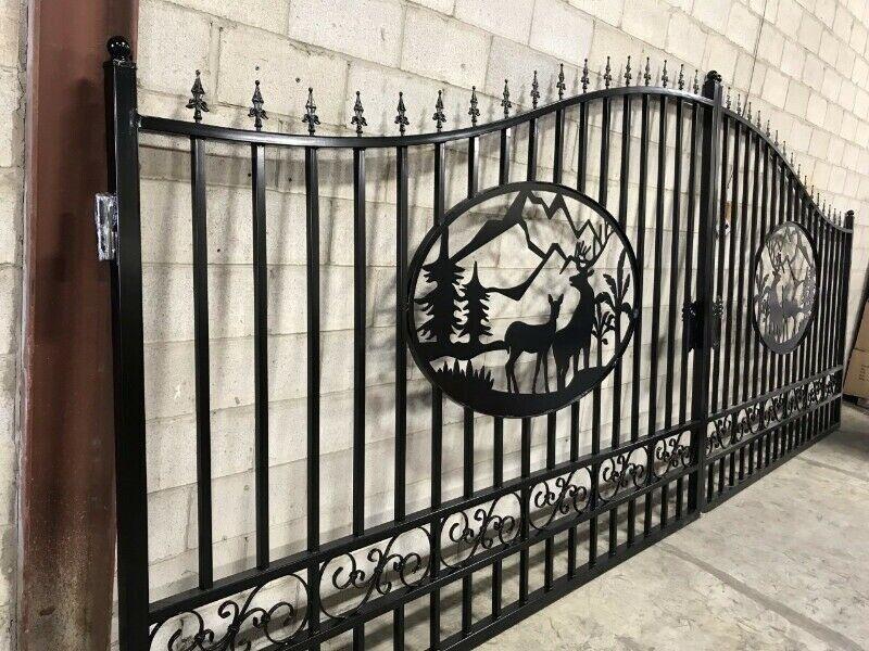 Ornamental Driveway Gates Heavy Duty 300 Lbs Decks