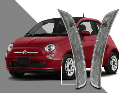 (Euro Clear Front Bumper Side Marker Reflector Light For 11-17 Fiat 500)