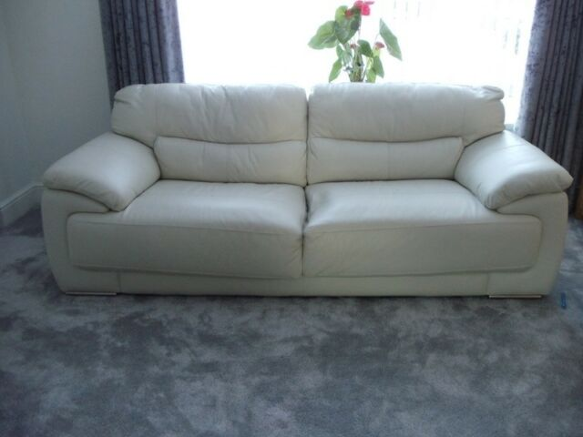 Scs Cream Off White Leather Sofa And 1 X Chair 2017 In Middrough North Yorkshire Gumtree