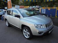 2011 11 JEEP COMPASS 2.2 CRD LIMITED 4X4 IN SILVER # FULL LEATHER FSH #