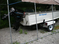 17 foot Sea Nymph, Trailer and Mercury outboards