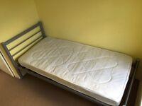 Single bed and mattress, Julian Bowen