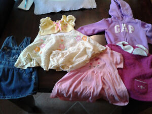 More than 50 items girls clothes, 12-18 month $22