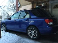 2004 Subaru Impreza Wagon, Manual, rally blue