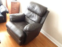 Leather recliner very comfortable