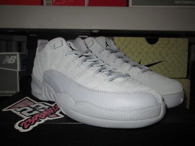 SALE AIR JORDAN 12 RETRO LOW ARMORY NAVY WOLF GREY SUEDE 308305 002 GS XII KIDS
