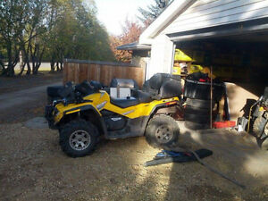 2007 can am outlander xt 2 up