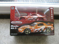 Mazda RX-7 Twin Turbo Orange Screaming Machine 1/24 Metal Model