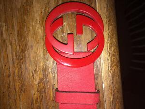 Red Gucci belt mens